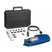 Dremel 3000-1/25 EZ - Pack con multiherramienta, eje flexible y 25 accesorios, 10000 - 33000 rpm, 130 W, 230 V, color negro y azul