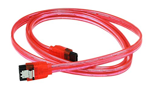 C&E 24 Pack, 36 inch SATA 6Gbps Cable w/Locking Latch  UV...