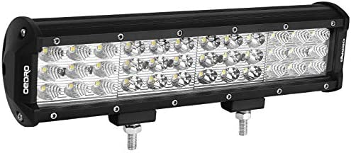 oEdRo LED Light Bar Tri-Rows 120W 12Inch LED Light Pod Spot Flood Combo Light Off Road Lights Led Fog Light Driving Lights Boat Lighting Fit for Truck Pickup Jeep SUV ATV UTV 3 Years Warranty