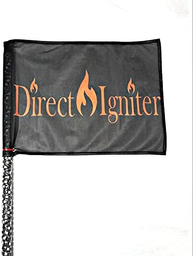 Direct Igniter 4 , 5 , 6 Wrapped L.E.D. RGBW Safety Flag Whip 20 Colors Over 30 Modes Remote RZR CAN-AM Twisted Spiral Whips