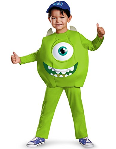 Disney Pixar Monsters University Mike Toddler Deluxe Costume, Small/2T ()