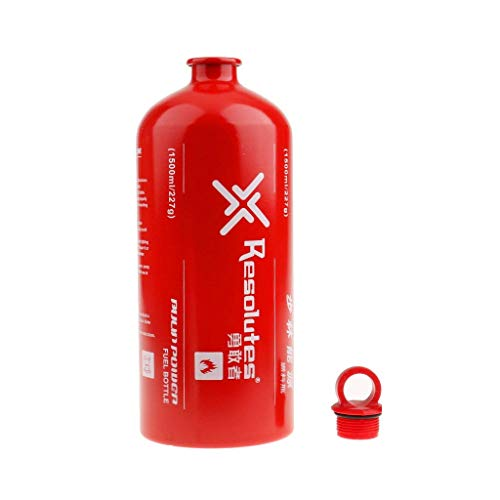 Yundxi Outdoor Camping Liquid Fuel Bottle Emergency Storage Can for Petrol Gas Oil Alcohol 0.5L/0.75L/1L/1.5L ()