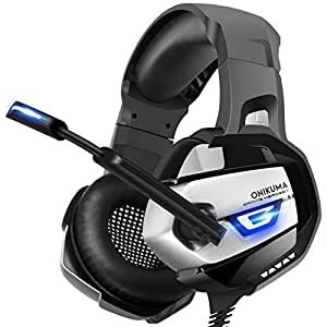 amazon com onikuma stereo gaming headset for ps4 xbox one pc rh amazon com PS3 Wired Headset PS3 Bluetooth Headset