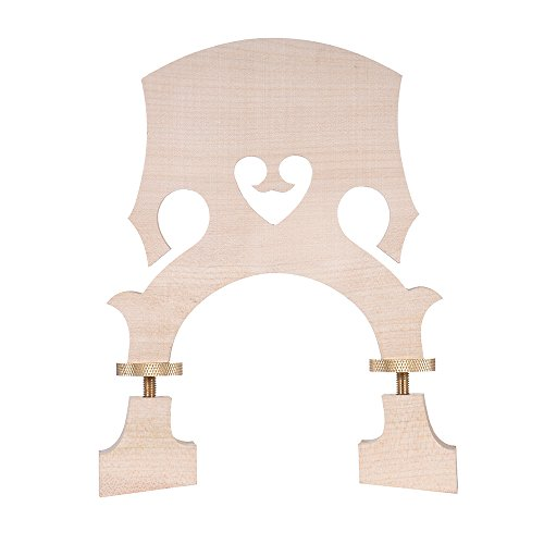 ammoon Standard Maple Bridge Replacement Part for 3/4 Size Double Bass Adjustable Upright Bass Bridge