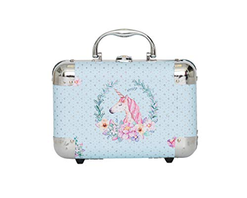 Blue Unicorn Jewelry Box, Kids Storage Organizer for Earrings, Necklaces, Rings, Bracelets and Accessories. Makes Great Girls Gifts, goes with Any Bedroom -