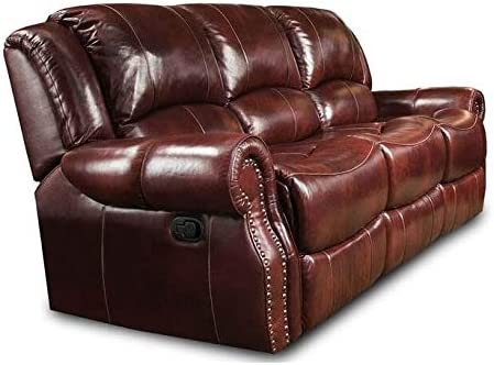 Amazon.com: Chelsea Home Reclining Sofa in Softie Oxblood ...