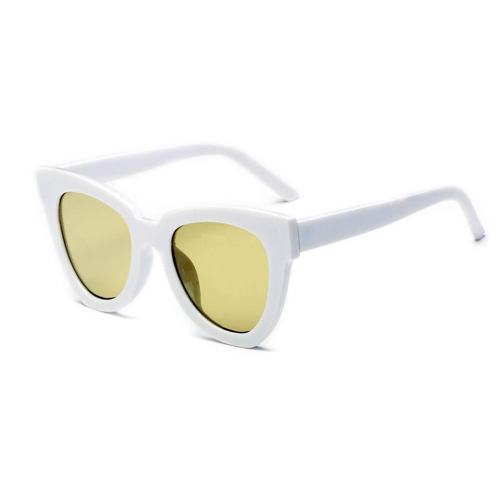Quelife Women Men Vintage Retro Glasses Unisex Fashion Aviator Mirror Lens Sunglasses D