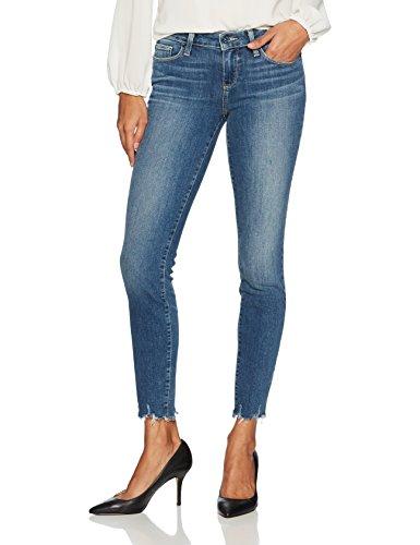 PAIGE Women's Verdugo Ultra Skinny Distressed Hem Jeans, Barkley Distressed, 27