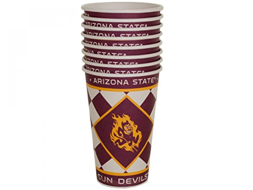 Arizona State Sun Devils Paper Cups Set - Set of 24, [Sports Licensed Products, Sports Licensed Products]