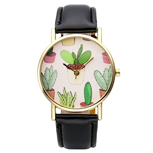 Top Plaza Cactaceae Leather Girls Black