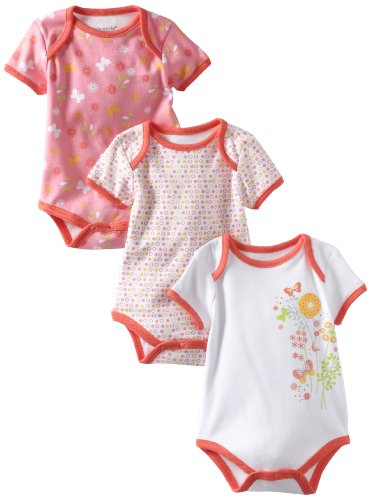 Babyworks Baby-Girls Newborn 3 Piece Set Creepers Bodysuit, Pink, 3-6 Months