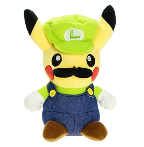 Stuffed Pikachu Plush Doll Super Mario Luigi- Stuffed Pikachu Plush Doll Super Mario Luigi Soft Suitable For Babies and Children - Perfect Birthday Gifts - Toy Doll for Baby, Kids and Toddlers - 6