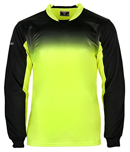 Vizari Vallejo Goalkeeper Jersey | Goalie Jersey | Soccer Clothes | Soccer Shirts | Jersey Soccer | Yellow/Black Adult M