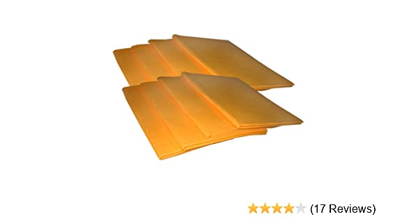 19 x 27 15 x 16 /& 6 Small Blue : 4 Large Orange 10 pieces Chamois Value Pack The Felt Store