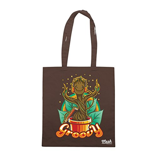 Borsa GROOVY GROOT GUARDIANI DELLA GALASIA - Marrone - FILM by Mush Dress Your Style