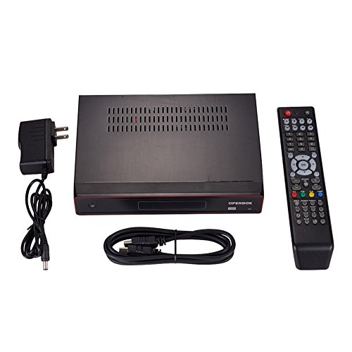 AuMoHall Openbox Z5 Satellite TV Receiver Set-top Box Full HD PVR USB Wifi Skybox DVB,Black (US Regulations)