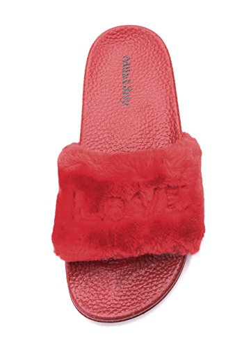 Flops Ashley Casual Indoor Sandals Slip A red Shoes Slipper Non Womens Outdoor Beach Fur1 Collection Flip for cwWHYw14q