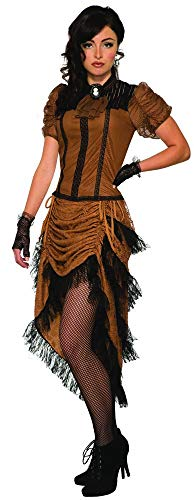the Last Dance Saloon Girl Costume, Brown -