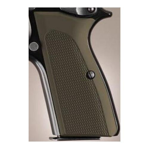 Hogue Browning Hi Power Grips Checkered Aluminum Matte Green