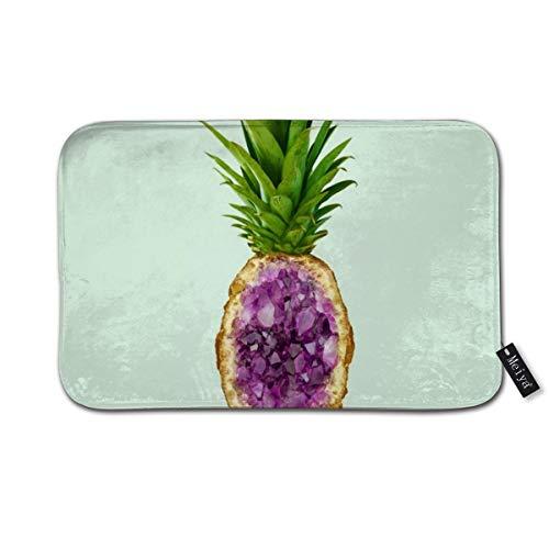 (Pineapple Quartz Doormat Floor Mat with Non-Slip Backing Bath Mat Rug Funny Home Decor 23.6