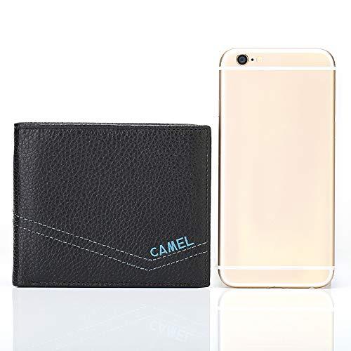 Mens Leather Wallet Credit Card,Money Wallets for Men Retro Minimalist Wallet Gift Boxed: Amazon.es: Equipaje