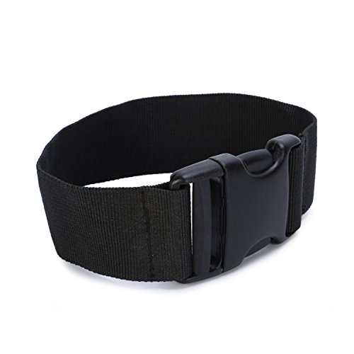 Huntvp Waist Strap Extender Fanny Pack Strap Extension with Quick-Release Buckle,Black