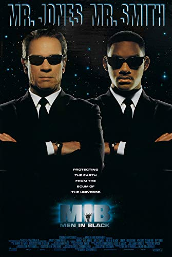 (MEN IN BLACK MOVIE POSTER 2 Sided ORIGINAL 27x40 WILL SMITH TOMMY LEE JONES)