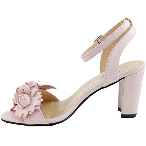 Image of LenaLuisa Amber-27 Floral Block Heel Sandal