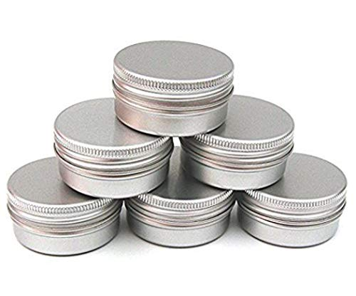 CTKcom Pack of 20 Screw Top Round Steel Tins With Tight Sealed Twist Screw-top Cover,2-Ounce, For Lip Balm, Crafts, Cosmetic, Candles, Storage Kit