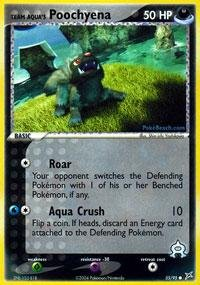 Cards Pokemon Aqua Trading - Pokemon - Team Aqua's Poochyena (55) - EX Team Magma vs Team Aqua
