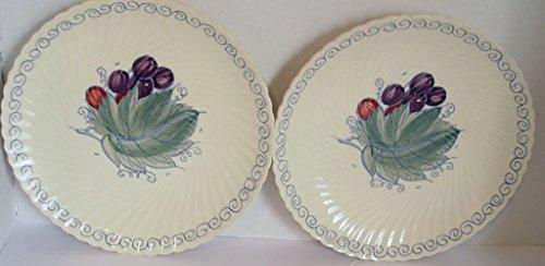 Set of 2 Vintage Susie Cooper Fruit Design Plates Crown Works Burslem England 9