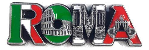 New gray Fridge metal Magnet flag Italy Rome Vatican/Colosseum/trevi ()
