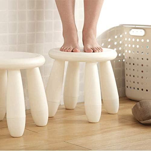 Simple petit tabouret en plastique blanc pour enfants adultes Salle de bain Tabouret Tabouret Petite chaise