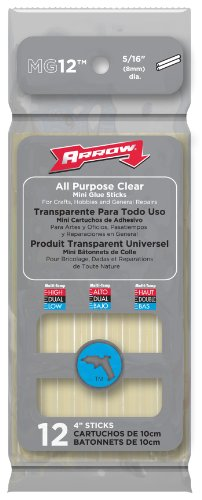 "Price comparison product image Arrow Fastener MG12 All Purpose 5 / 16"" Mini Glue Sticks,  12-Pack"