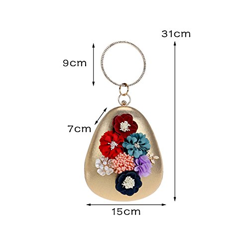 Wedding Fashion Dinner 5 Women color Hkc Bag 5 Flowers Women Handbag qwEdFIfWP