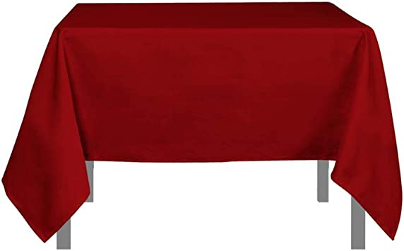 Image ofSoleil d'ocre Mantel Antimanchas Cuadrado 180x180 cm Alix Rojo