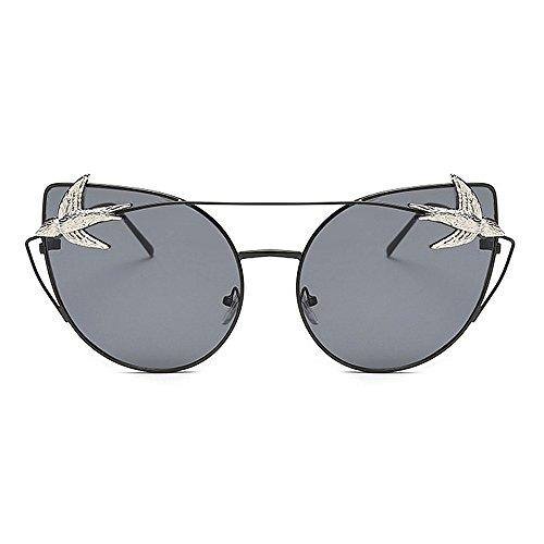 Color Black Black Unisex Yxsd de Sol SunglassesMAN Metal Gafas Round gA0w4BHq