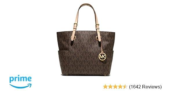 MICHAEL Michael Kors Signature Tote, Brown, one size  Handbags  Amazon.com cc362bead1