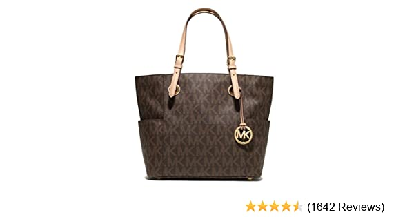 MICHAEL Michael Kors Signature Tote, Brown, one size  Handbags  Amazon.com 28fabc2b9e