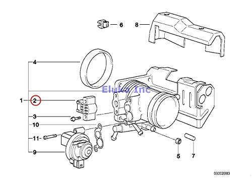 BMW Genuine Fuel Injection Throttle Valve Switch 4 KOHM 318i 318is 318ti 320i 323i 325i 325is 328i M3 M3 3.2 740i 740iL 528i 540i 540iP Z3 1.9 Z3 2.8 Z3 M3.2 (Genuine Throttle Switch)