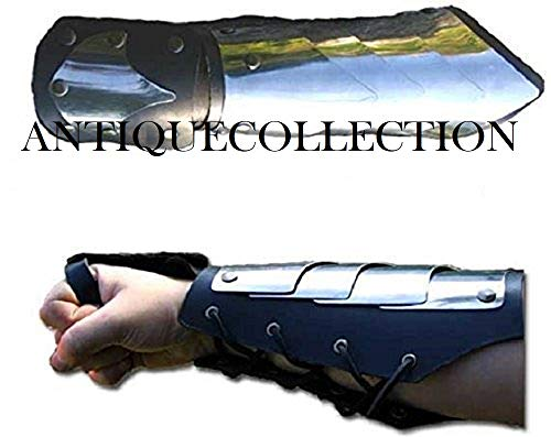 Gauntlet Bracer Medieval Warrior Knight Steel Armor Leather -