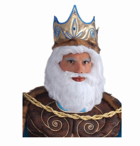 [Forum Novelties Men's King Neptune Wig, White, One Size] (Poseidon Greek God Costume)