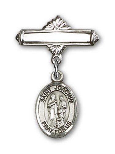 Icecarats Créatrice De Bijoux En Argent Sterling St. Broche De Badge Charme Joachim 1 X 5/8