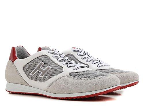 Hogan Sneakers Olympia X in tessuto bianco e suede - Codice modello: HXM2050U670FKB873T Bianco