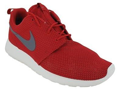 Nike Roshe Run Rosherun Red Grey Sail Mens Sportwear Running Shoes 511881 601 [US Size 11.5]