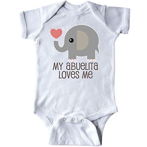 inktastic - My Abuelita Loves Me Grandchild Infant Creeper 6 Months White 2ce44 ()