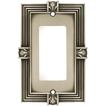 Franklin Brass 64463 Pineapple Single Decorator Wall Plate / Switch Plate / Cover, Brushed Satin Pewter