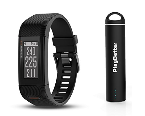 Garmin Approach X10 Golf GPS Bundle   with PlayBetter Portable USB Charger   Simple, Intuitive Golf GPS Band   41,000+ Worldwide Courses (Small/Medium, Matte Black)