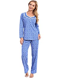 Patricia Women's Soft Cotton Knit Floral Print Nightgown and Pajama Sets