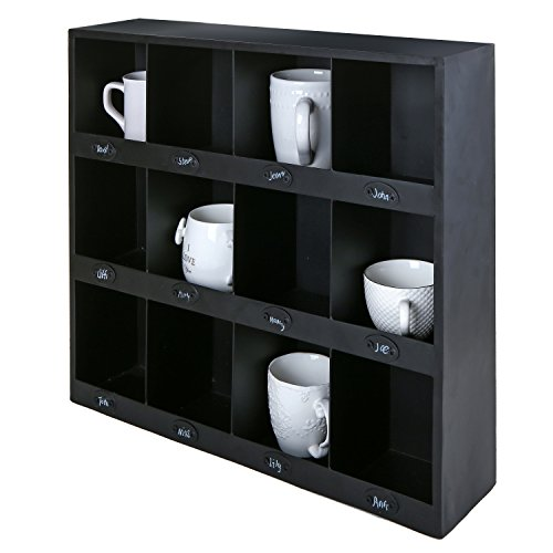 MyGift Wall Mount Organizer Compartment Chalkboard product image